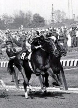 Majestic Prince winning the Kentucky Derby